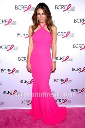Elizabeth Hurley エリザベス・ハーレイ ホットピンクのイブニングドレスパーティーのウェディングドレス
