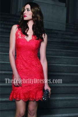 Emmy Rossum Red Lace Cocktail Dress Party Dresses 'The Fabric of My Life'