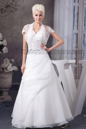 Floor Length Halter A-Line Wedding Dress With A Wrap