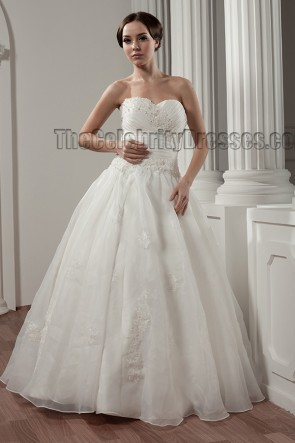 Floor Length Sweetheart Strapless A-Line Wedding Dresses