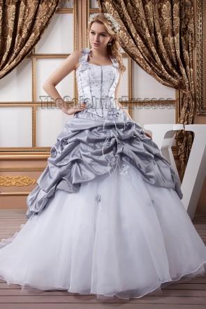 Gorgeous A-Line Halter Chapel Train Lace Up Wedding Dress