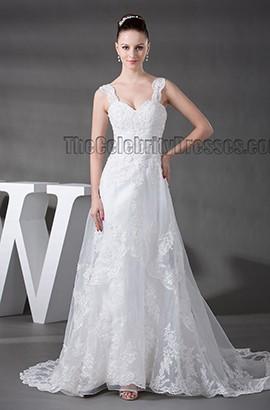 Gorgeous Lace A-Line Chapel Train Wedding Dress
