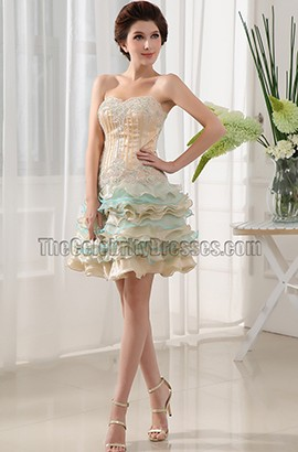 Gorgeous Beaded Mini Party Dress Homecoming Dresses