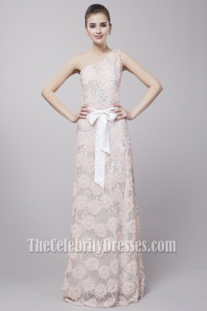 Gorgeous One Shoulder Embroidered Formal Dress Evening Gown