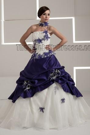 Gorgeous Strapless A-Line RufflesTaffeta Wedding Dress