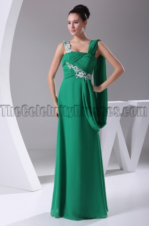Elegant Hunter Embroidery Prom Gown Formal Dress