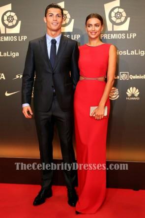 イリーナ・シェイク赤のイブニングドレス2014 Liga de Futbol Profesional Awards