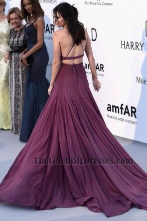 Kendall Jennerセクシーな二枚のイブニングドレスカンヌamFARガラレッドカーペット
