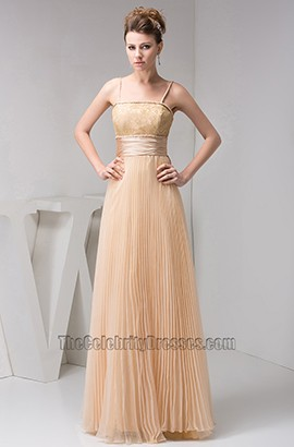 Long Spaghetti Straps Prom Gown Evening Bridesmaid Dresses