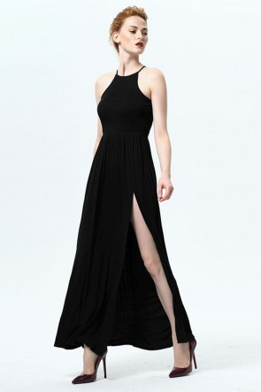 Long Sleeveless Side Slit Evening Party Dress TCDMU0026