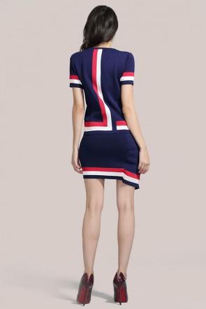 Short-sleeved Knit Two-piece Dress TCDMU0038