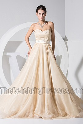 New Style Champagne Sweetheart Formal Dress Prom Evening Dresses