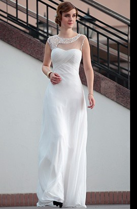 New Style Floor Length White Evening Prom Formal Dresses