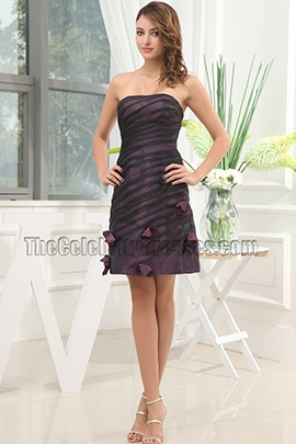 New Style Short Strapless Cocktail Graduation Party Dresses