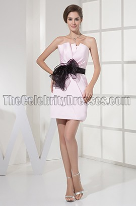 Pearl Pink Short Party Cocktail Graduation Dresses