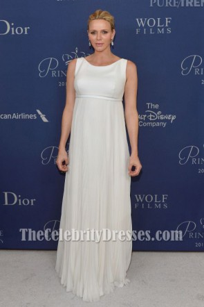 Princess Charlene of Monaco Ivory Evening Dress 2014 Princess Grace Awards Gala