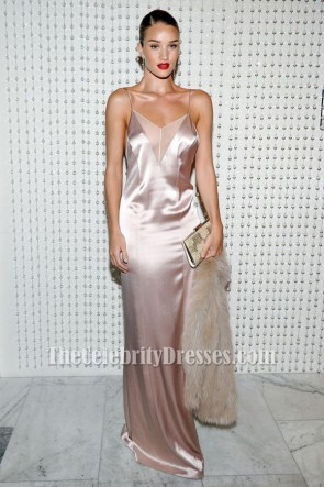 Rosie Huntington-Whiteley Backless Evening Dress Galvan For Opening Ceremony Dinner