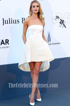 Rosie Huntington-Whiteley Cocktail Dress amfAR Cinema Against AIDS Gala