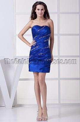 Royal Blue Beaded Party Homecoming Graduation Dresses