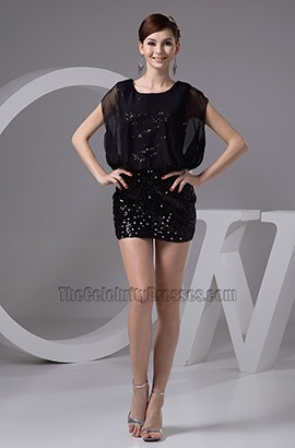 Sexy Black Mini Sequined Party Homecoming Dresses