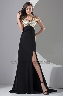 Sexy Beaded Evening Gown Formal Prom Dresses