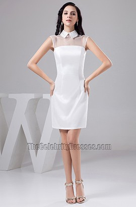 Sheath/Column High Neck Party Graduation Homecoming Dresses