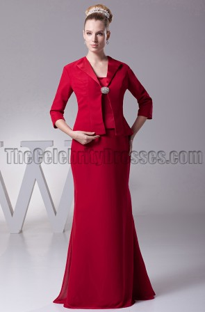 Sheath/Column Strapless Floor-length Mother of the Bride Dress
