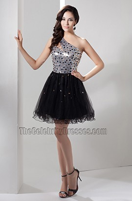 Cute Short A-Line Sequined Party Homecoming Dress