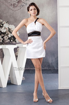Short Backless Mini White And Black Party Homecoming Dresses