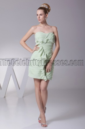 Short / Mini Strapless Sweetheart Party Homecoming Dresses
