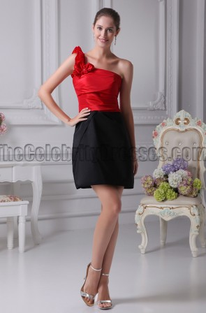 Red And Black Party Homecoming Graduation Dresses