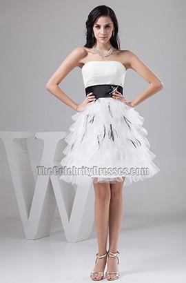 Gorgeous Short Strapless A-Line Organza Party Cocktail Dresses