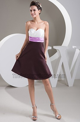 Strapless A-Line Sweetheart Cocktail Party Graduation Dress