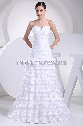 Sweetheart Strapless A-Line Taffeta Bridal Gown Wedding Dress
