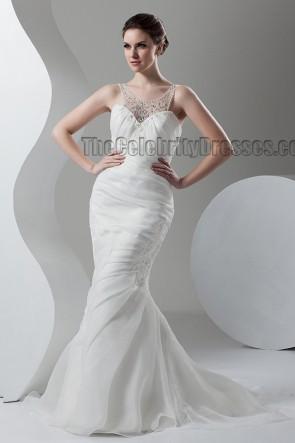 Trumpet /Mermaid Sweep/Brush Train Bridal Gown Wedding Dress