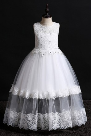 Ball-Gown Floor-length Flower Girl Dress