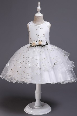 Ball-Gown Organza Flower Girl Dress