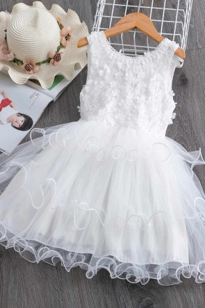 Ball-Gown Patchwork Flower Girl Dress