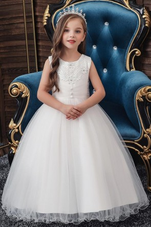 Ball-Gown Sleeveless Flower Girl Dress