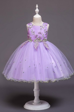 Ball-Gown Tulle Flower Girl Dress