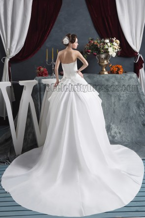 Ball Gown Strapless Sweetheart Chapel Train Embroidered Wedding Dress