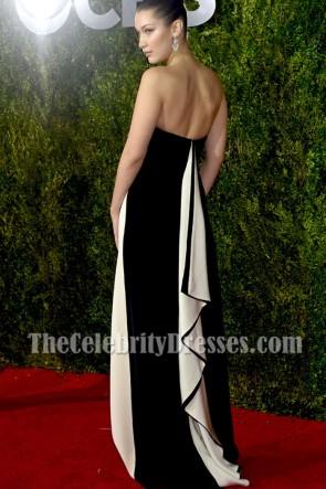Bella Hadid ベラ・ハディド アイボリーストラップレスのイブニングウエディングドレス2015トニー賞