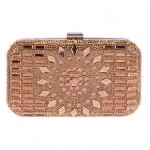 Brown Beading Fashion Evening Handbag For Sale