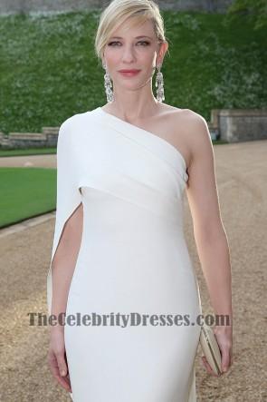 Cate Blanchett ケイト・ブランシェット ホワイトワンショルダーウエディングドレスチャリティーガラディナー