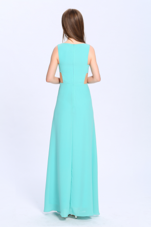 Celebrity Inspired Cut Out Sleeveless Formal Dress Evening Gown TCDBCk416