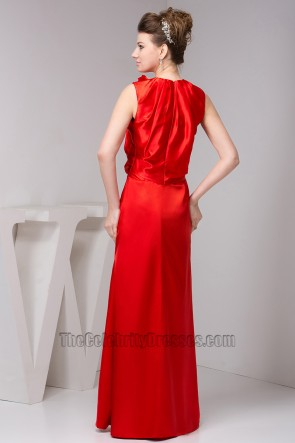 Celebrity Inspired Red Prom Gown Evening Formal Dresses