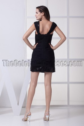 Celebrity Inspired Little Black Party Homecoming Dresses