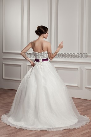 Celebrity Inspired Sweetheart Strapless A-Line Wedding Dress