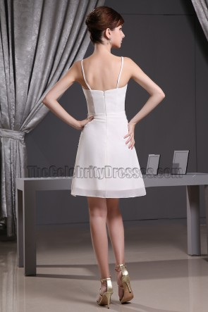 Celebrity Inspried Short White Cocktail Dress Party Homecoming Dresses