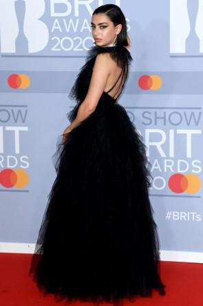 Charli XCX Black Princess Formal Gown 2020 BRIT Awards TCD8874